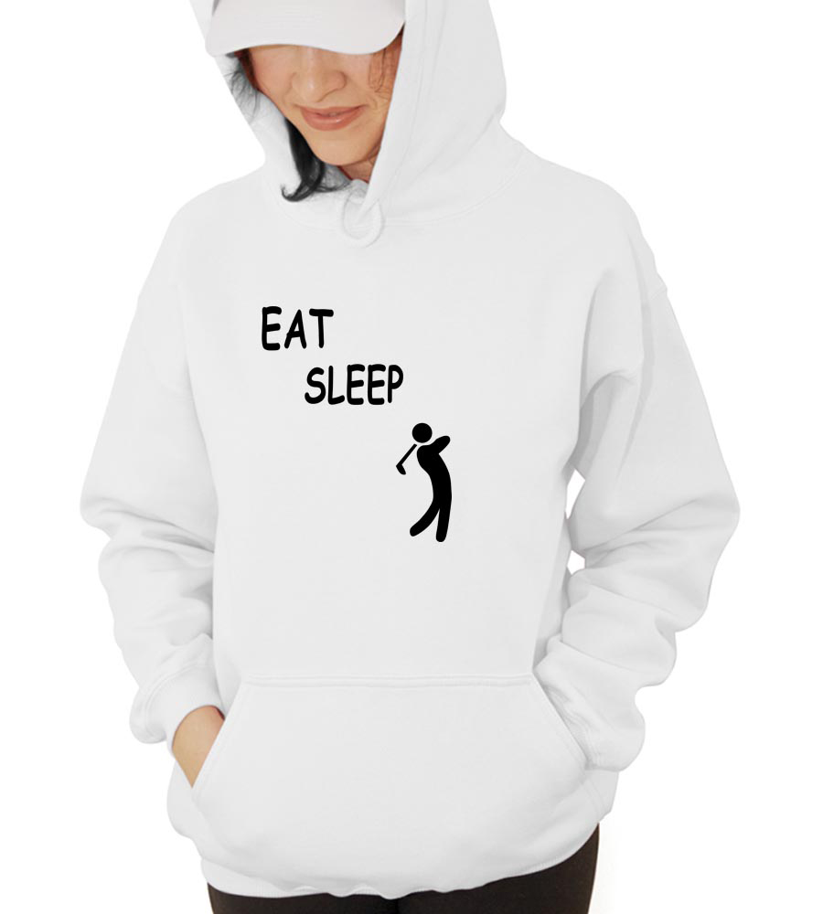 Eat Sleep Golf Hooded Sweatshirt