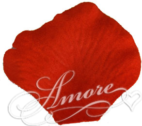Persimmon Brick Orange Silk Rose Petals Wedding 100