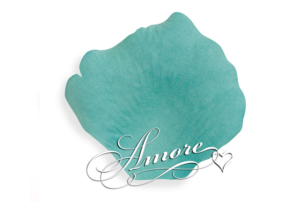 Tiffany Blue Silk Rose Petals Wedding 100