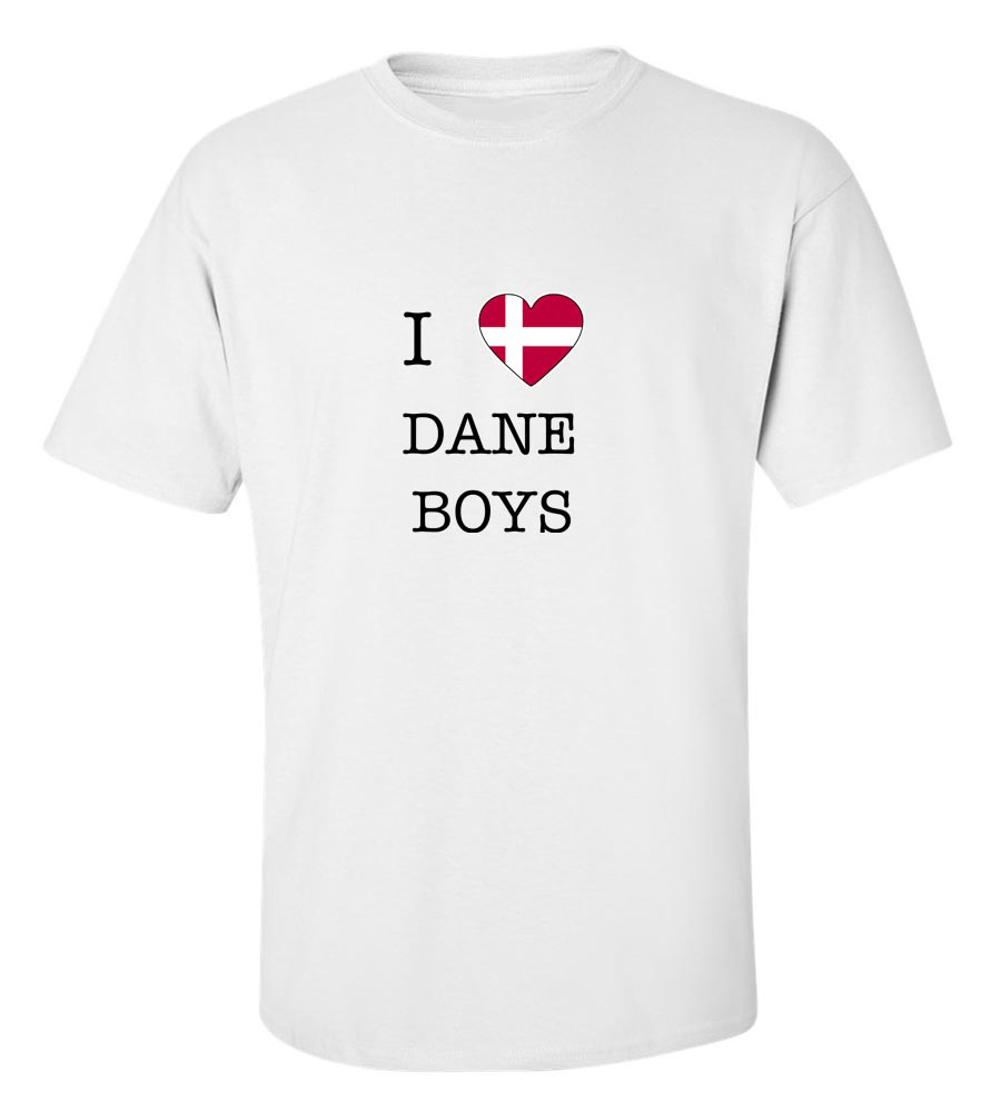 I Love Denmark Boys T Shirt