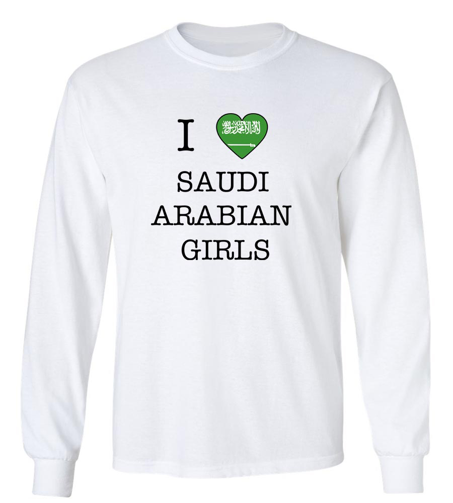 I Love Saudi Arabia Girls Long Sleeve T-Shirt