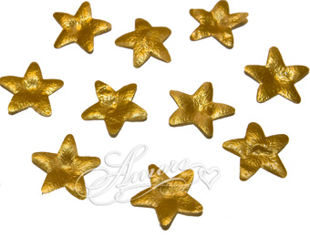 Gold Stars Silk Rose Petals Wedding 100