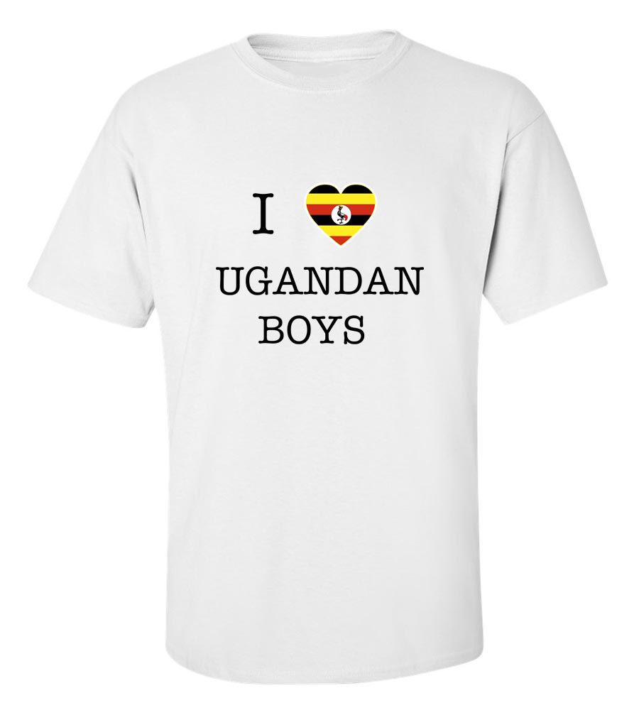 I Love Uganda Boys Girls T-Shirt