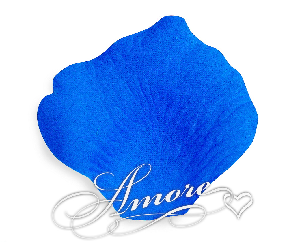 Cobalt Blue Medium Blue Silk Rose Petals Wedding Bulk 10000