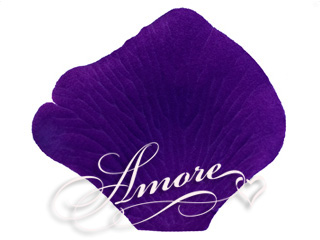 Purple Indigo Regency Silk Rose Petals Wedding 2000