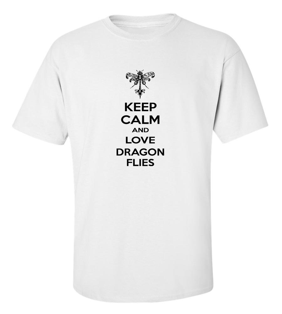 Keep Calm And Love Dragon Flies T-Shirt