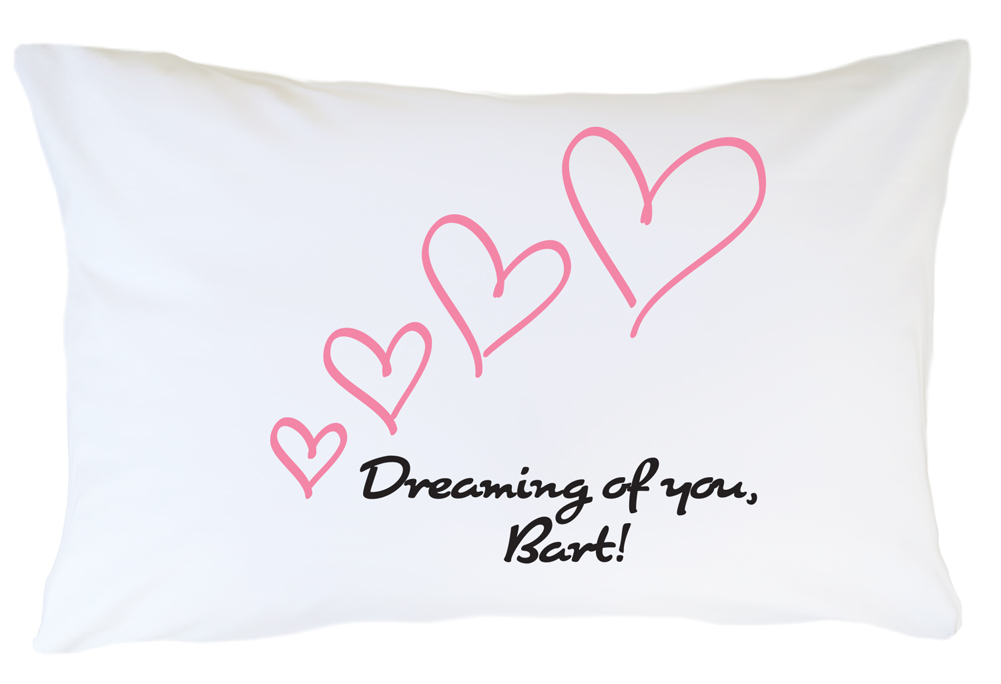 Personalized Pillow case Set Dreaming of You