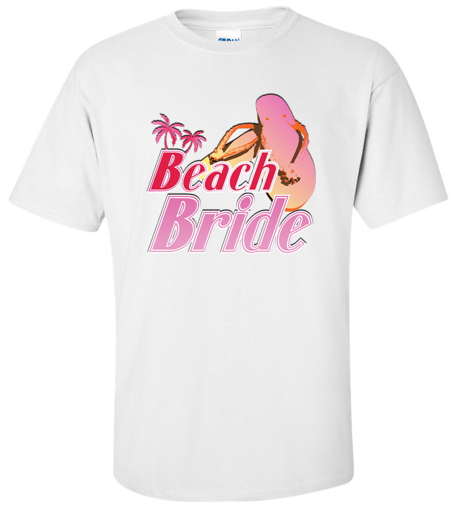Beach Bride Wedding T Shirt