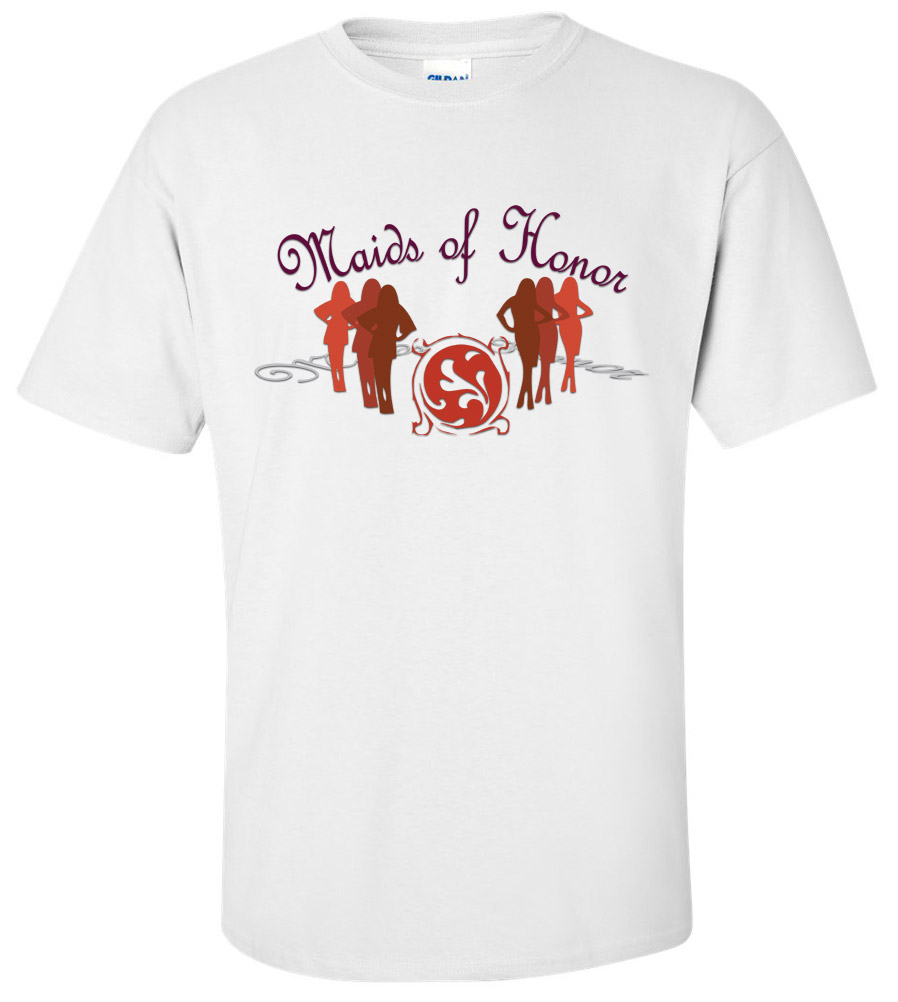 Maids of Honor Wedding T Shirt