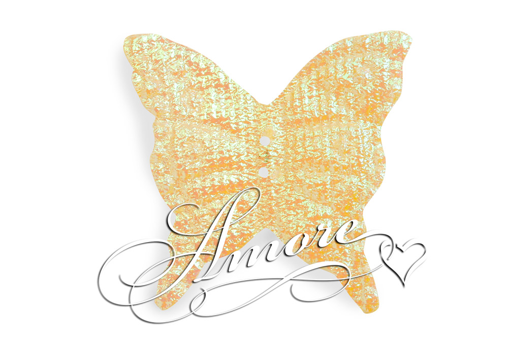 Yellow Iridescent Silk Butterflies Wedding 1000