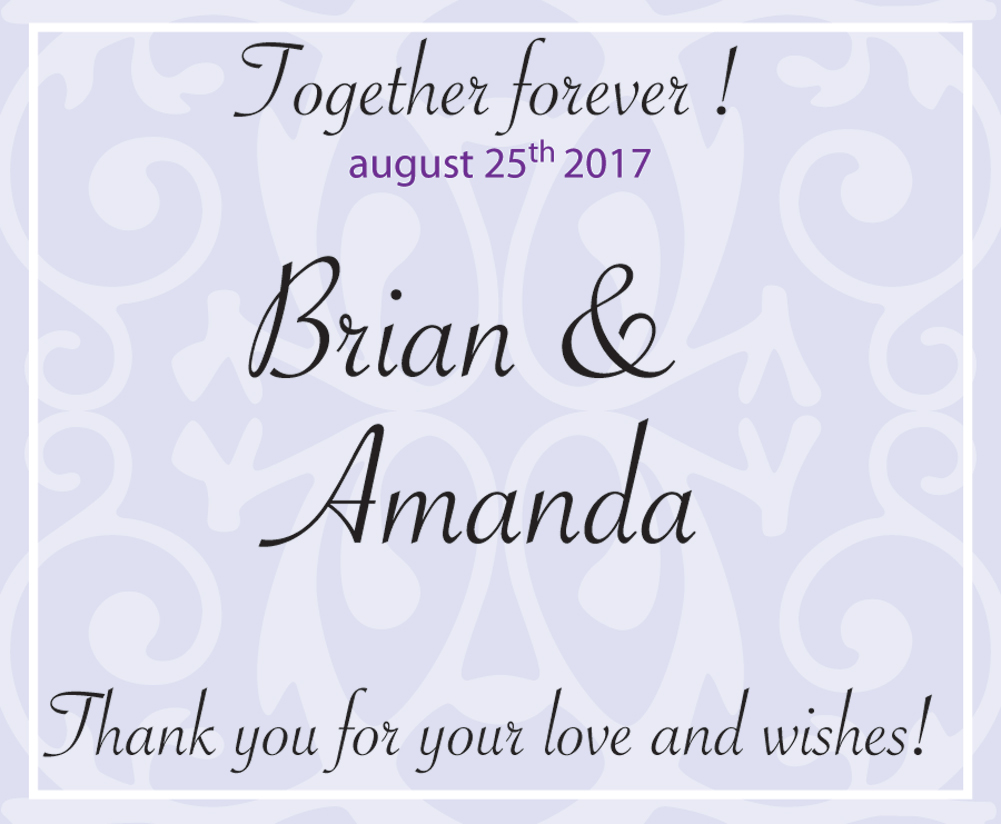Personalized Candle Jar Labels - Wedding