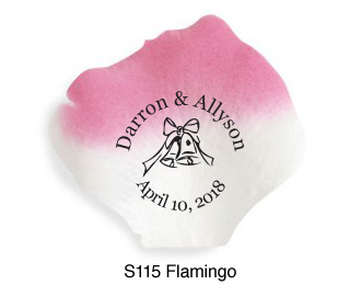 Personalized Silk Rose Petals Wedding 100