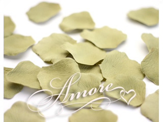 Sage Silk Rose Petals Wedding  1000