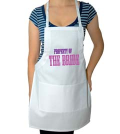 Property of the Bride Wedding Apron