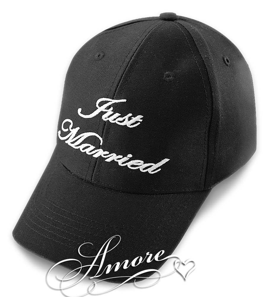 Just Married Baseball Caps - Black