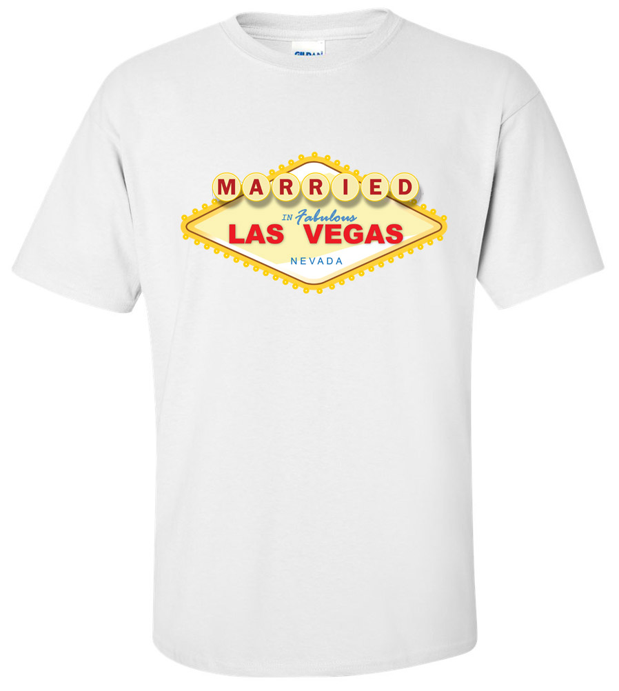Married Last Vegas Wedding T Shirt