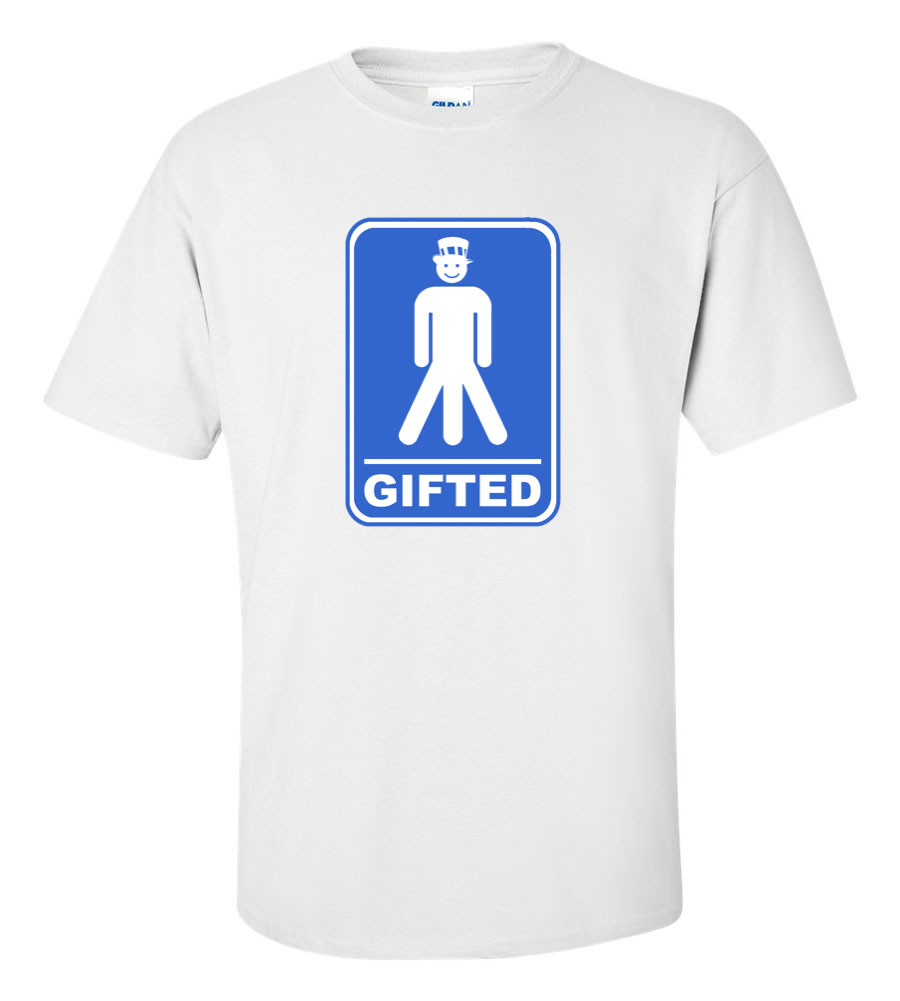 Gifted Happy Men Funny T Shirt
