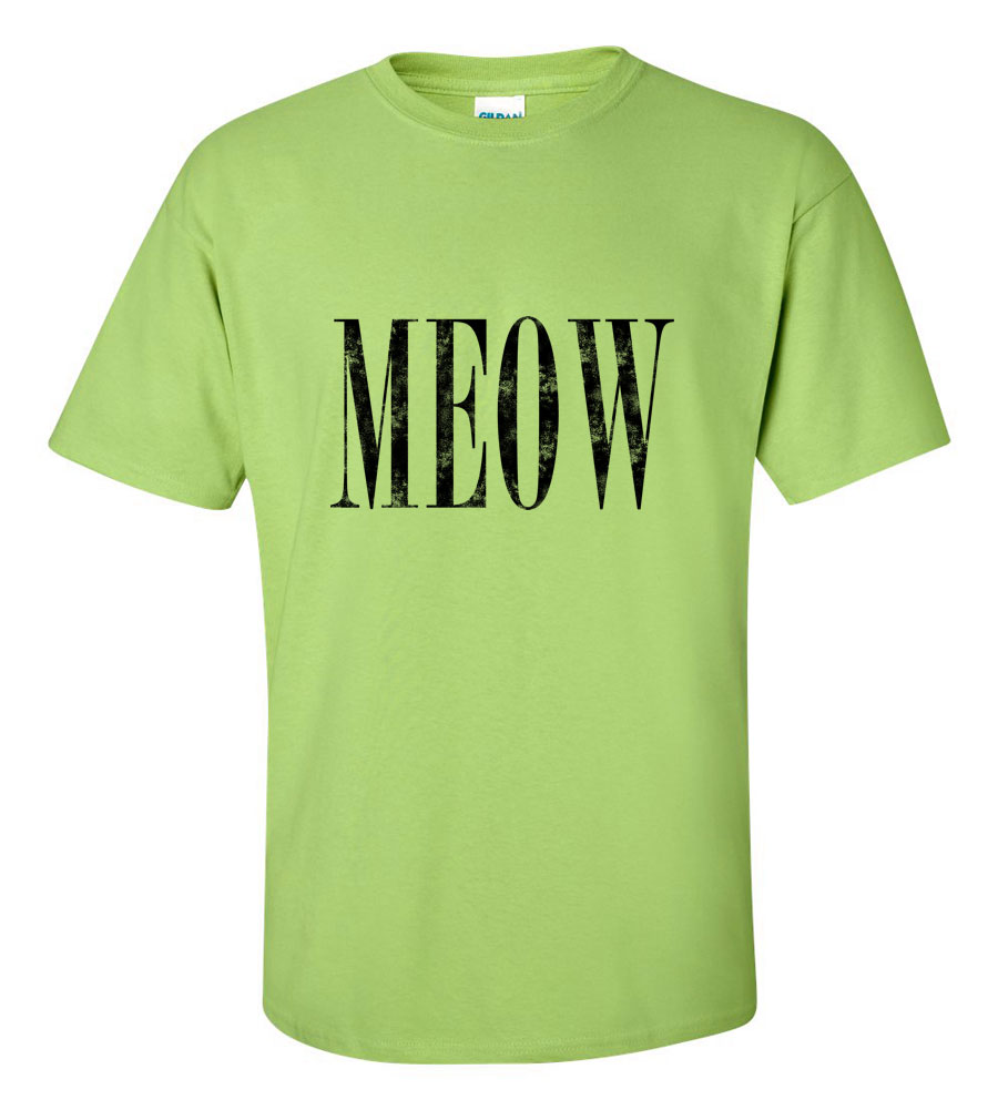 Meow Funny Cat T Shirt