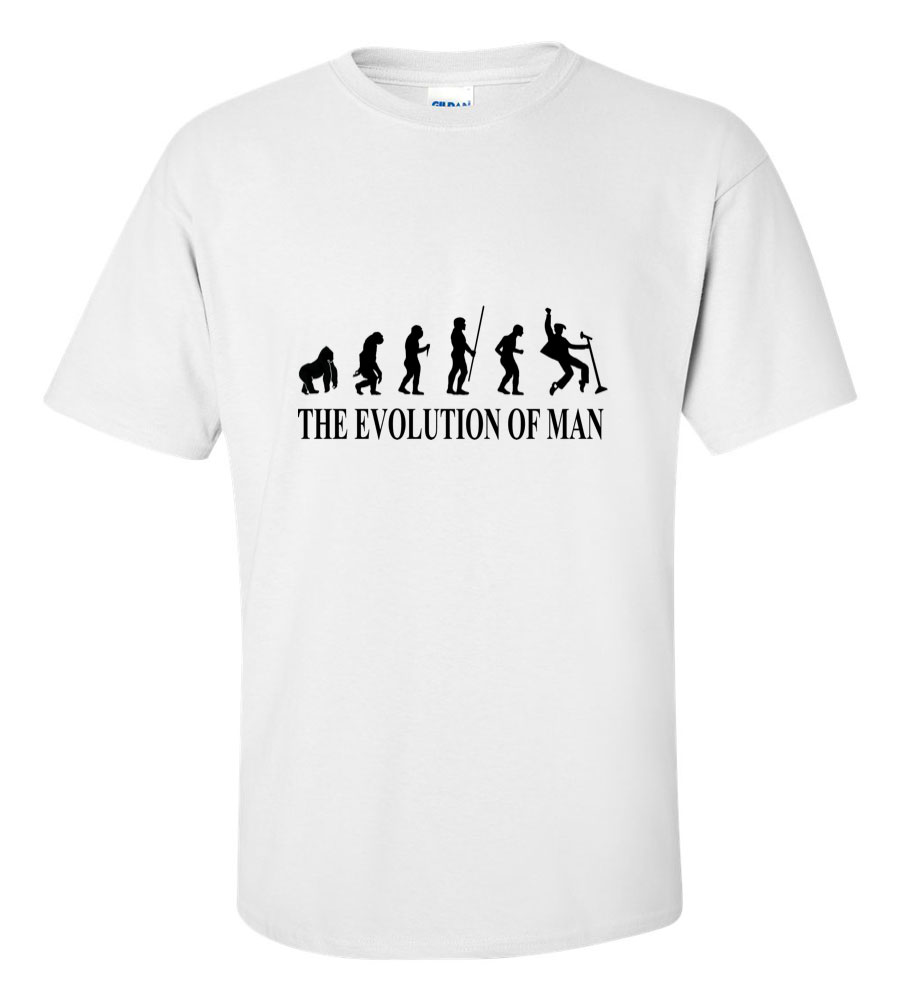 The Evolution of Man King of Rock and Roll Party Like a Rockstar T Shirt