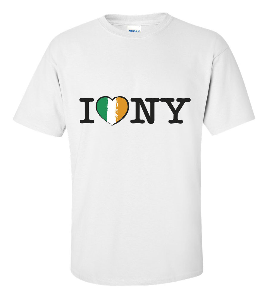 Saint Patrick's Day I Love NY Funny T Shirt