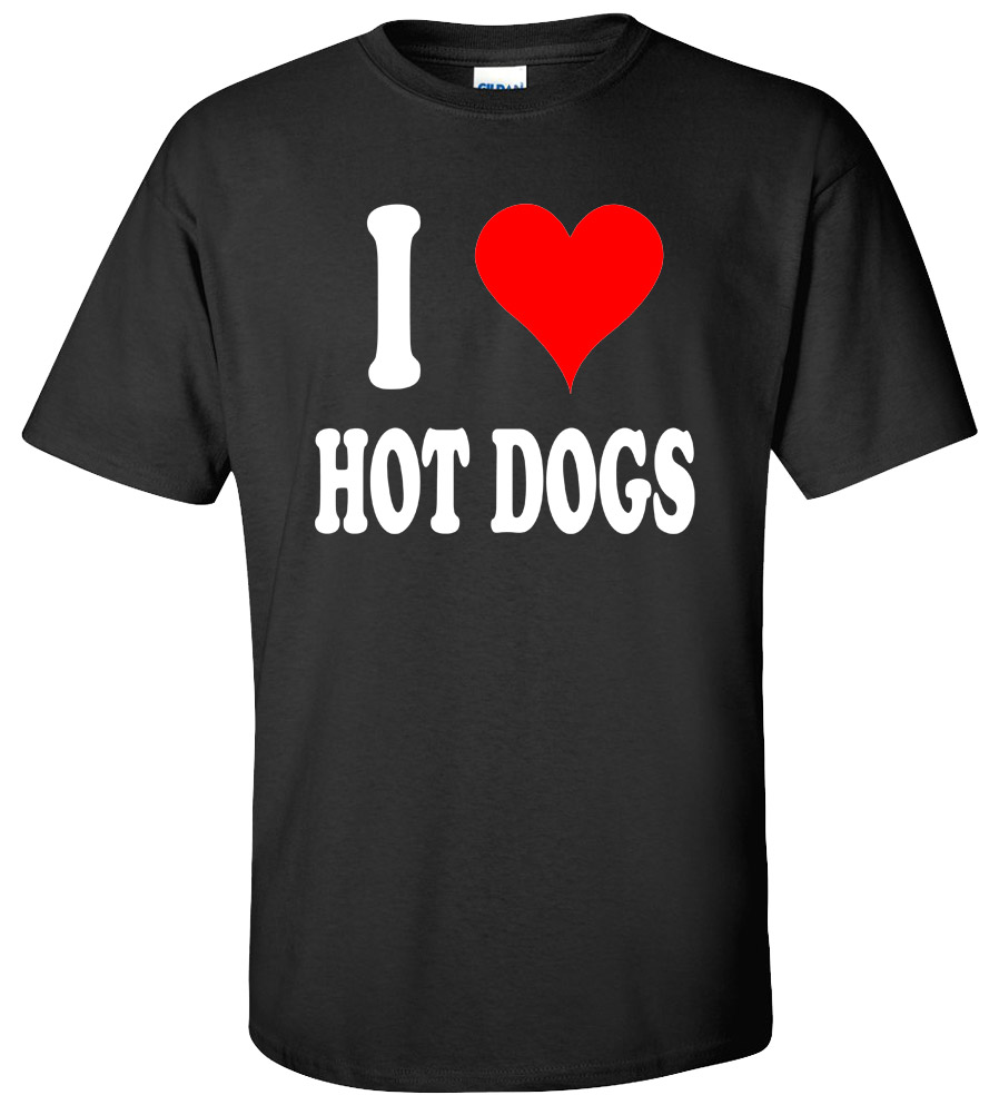 I Love Hot Dogs Funny T Shirt