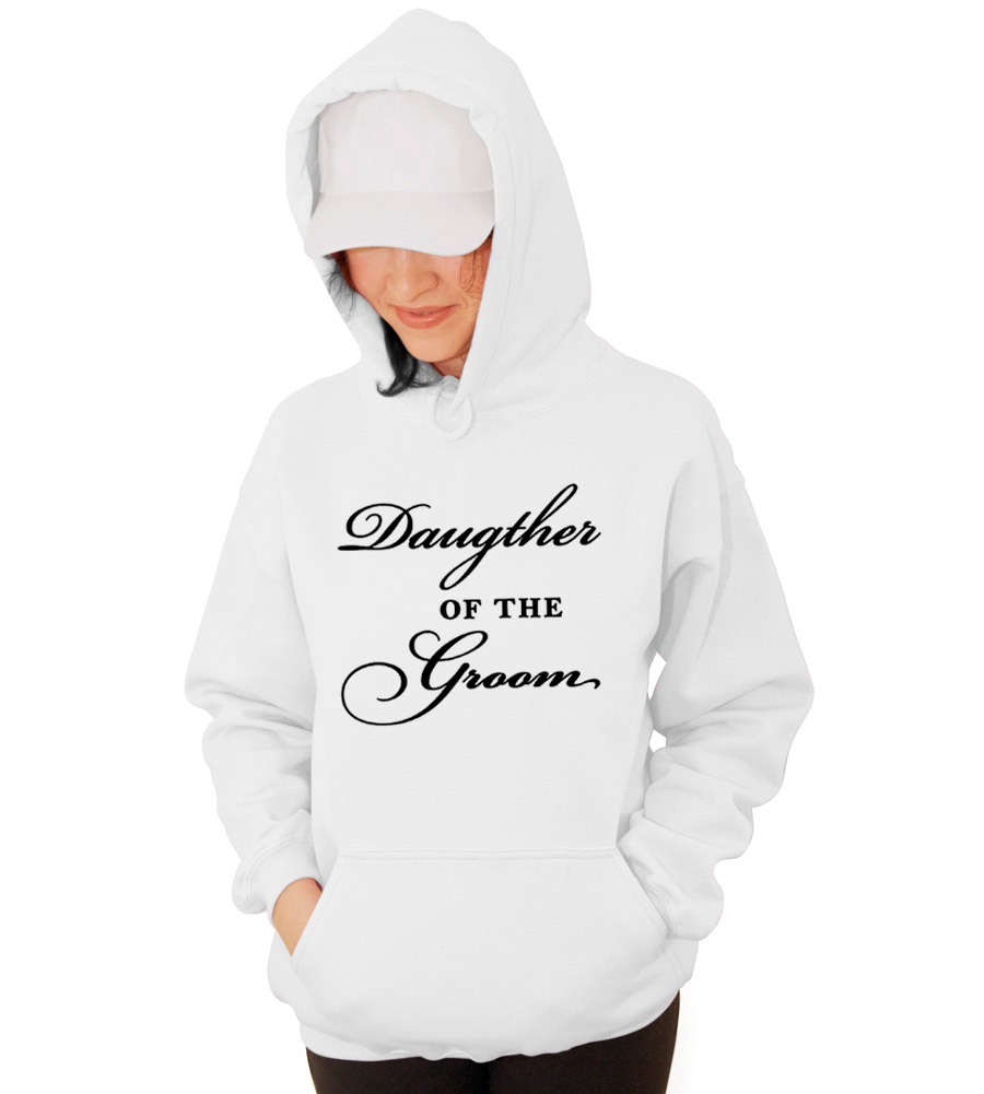 Daughter of the Groom Wedding Hooded Sweatshirt