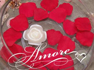 True Red Apple Red Floating Silk Rose Petals Wedding 200