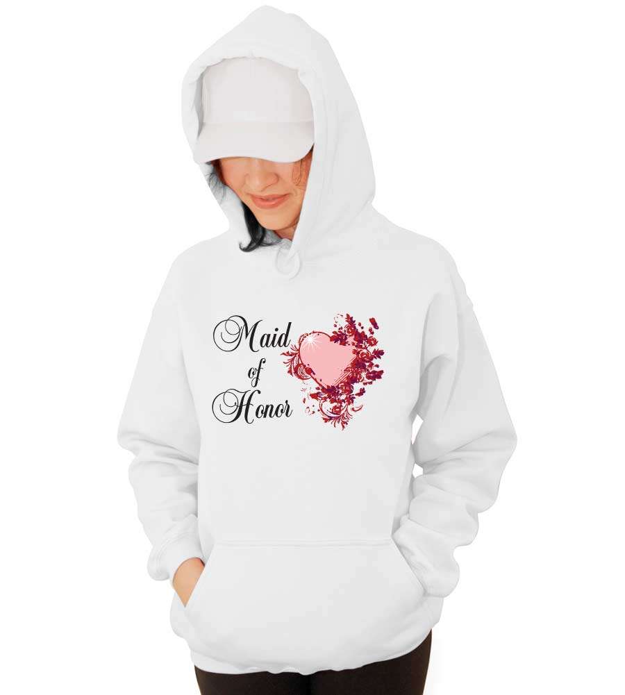 Maid of Honor Wedding Hooded Sweatshirt