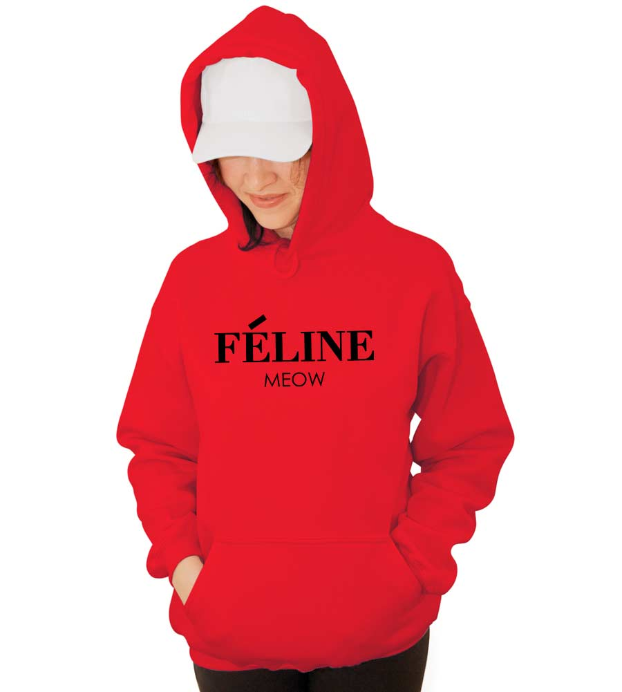 Feline Meow Hooded Sweatshirt