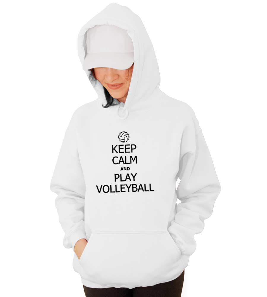 Keep Calm and Play Volleyball Hooded Sweatshirt