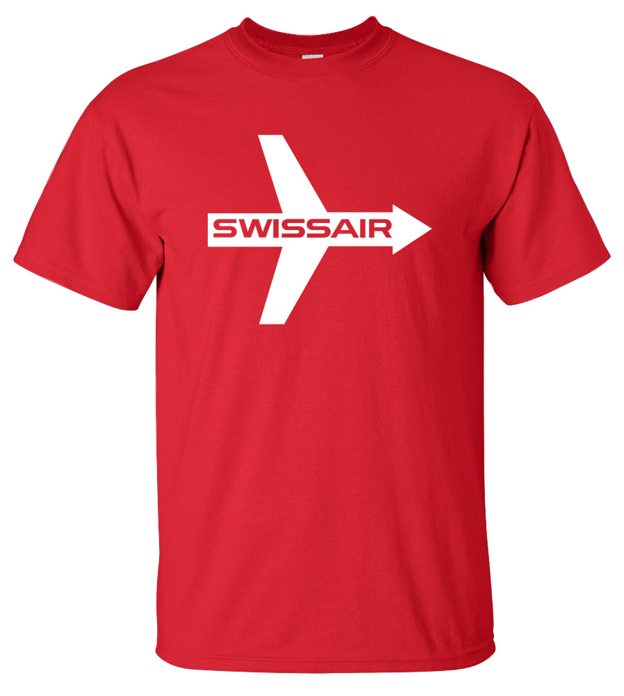 SWISSAIR Classic Airline T-shirt Cool Swiss Air New Boeing Airbus Tee