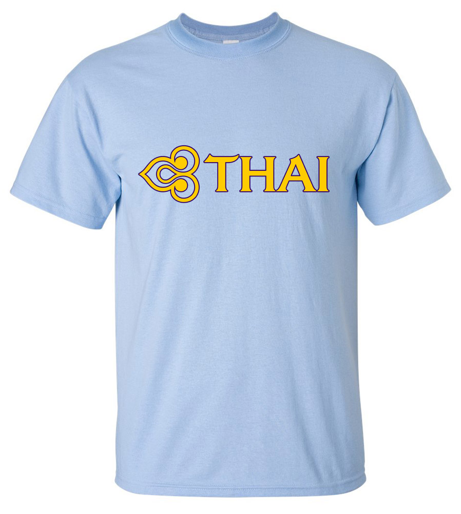 Thai Airways Vintage Logo Thai Airline Aviation T-shirt New Boeing Airbus Tee