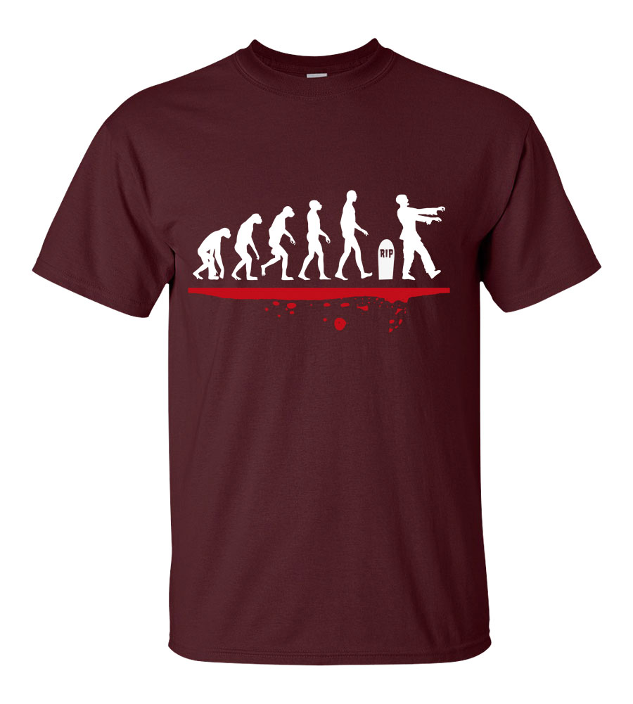 Halloween Man Evolution Zombie T-shirt Funny Scary