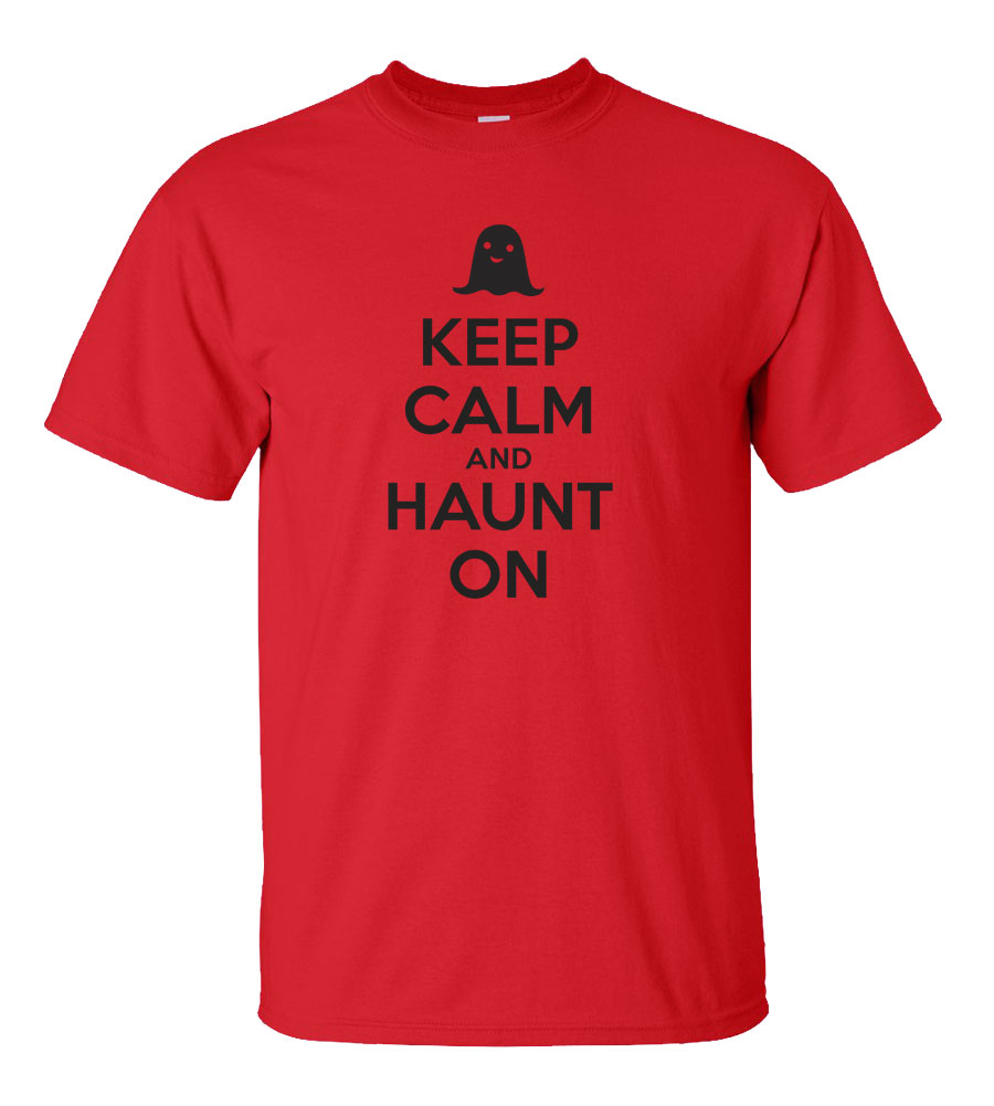 Halloween Keep Calm And Haunt On T-shirt Funny Scary