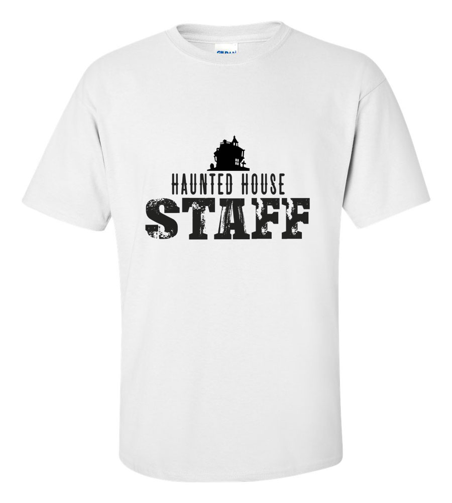 Halloween Haunted House Staff T-shirt Funny Scary