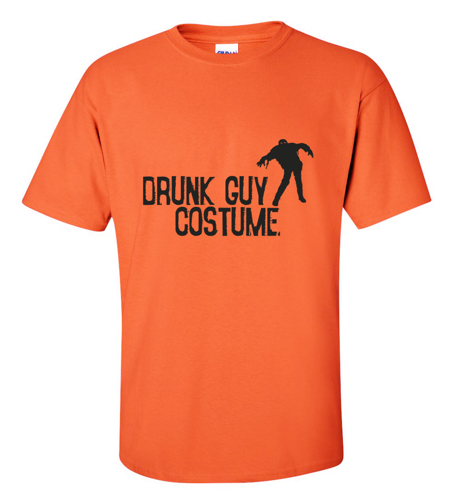 Halloween Drunk Guy Costume T-shirt Funny Scary