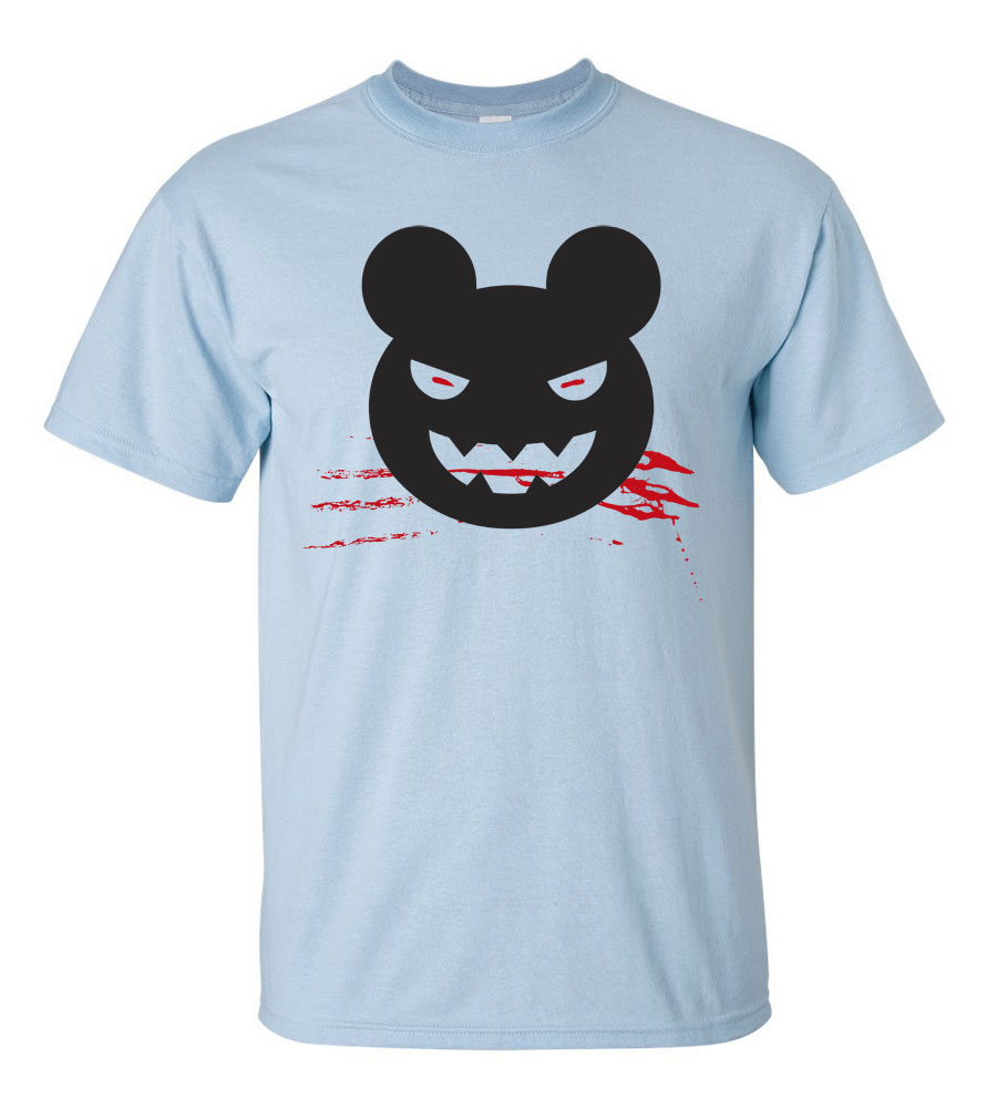 Halloween  Mouse T-shirt Funny Scary