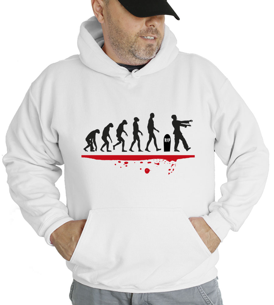 Halloween Man Evolution Zombie Hooded Sweatshirt