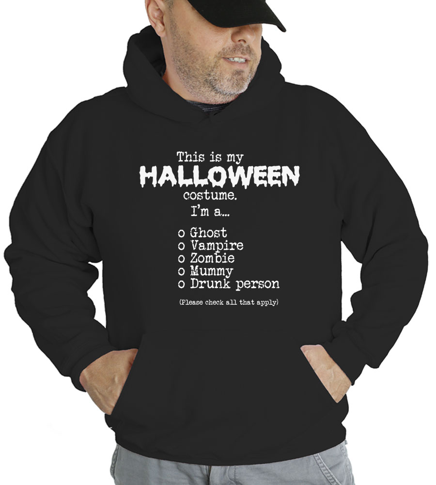 This Is My Halloween Costume Check All That Apply Hooded Sweatshirt