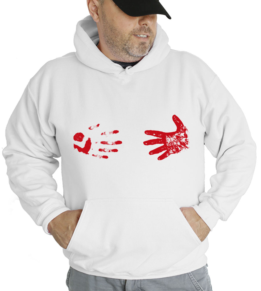 Bloody Hand Stains Halloween Hooded Sweatshirt