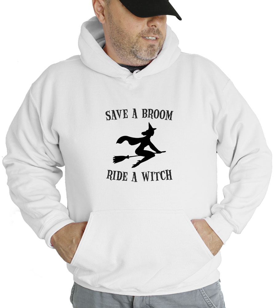 Halloween Save A Broom Ride A Witch Hooded Sweatshirt