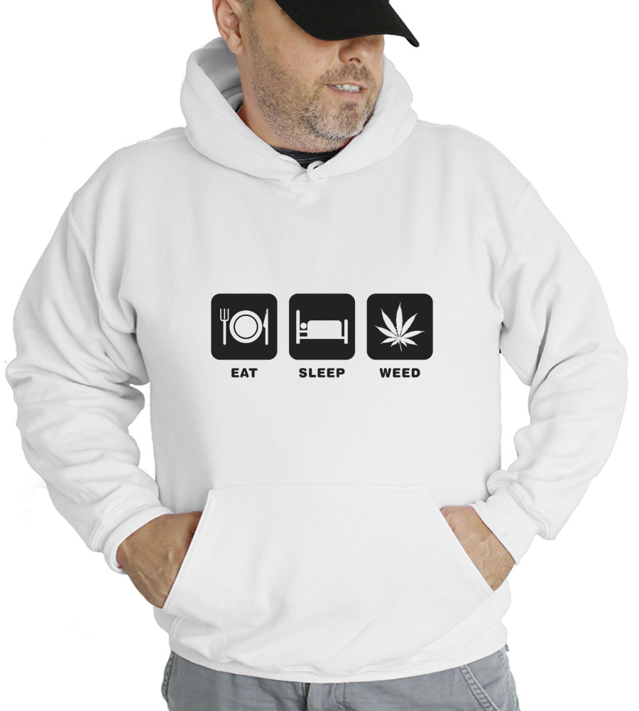 Eat Sleep Weed Hooded Sweatshirt