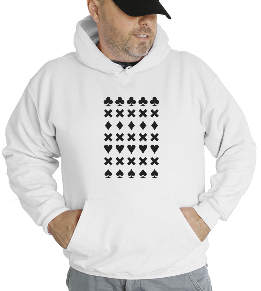 Card Symbals Suits Hooded Sweatshirt