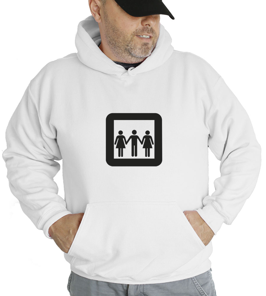 Threesome Hooded Sweatshirt