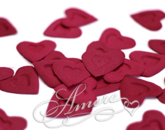 Burgundy Silk Rose Petals Wedding I Love You 4000
