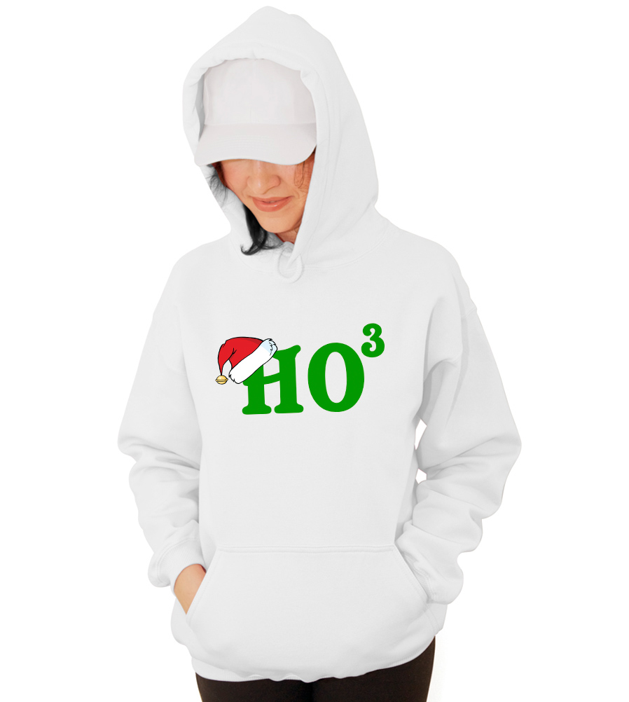 Ho Ho Ho Christmas Math Funny Hooded Sweatshirt