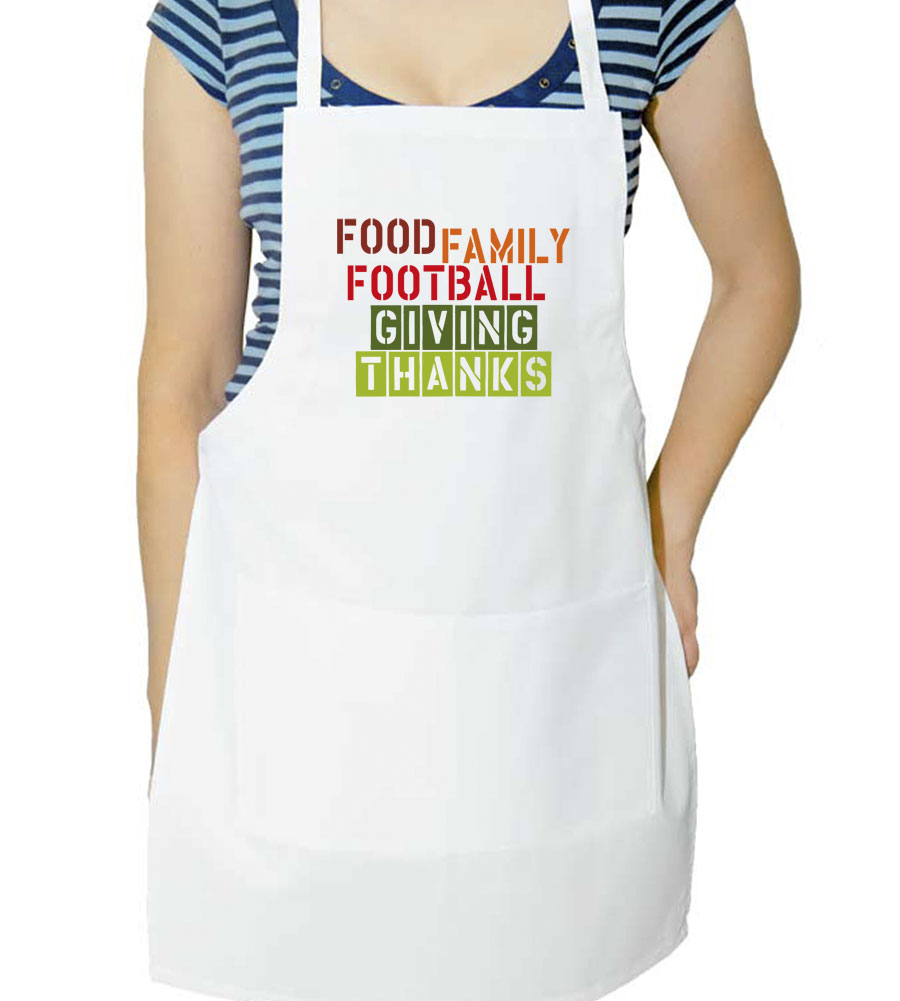 Food Family Football Giving Thanks Thanksgiving  Apron