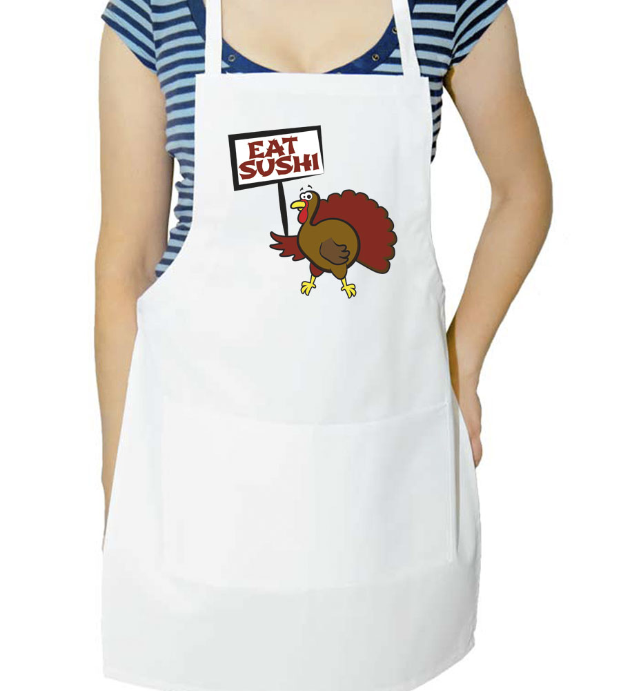 Eat Sushi Thanksgiving Apron