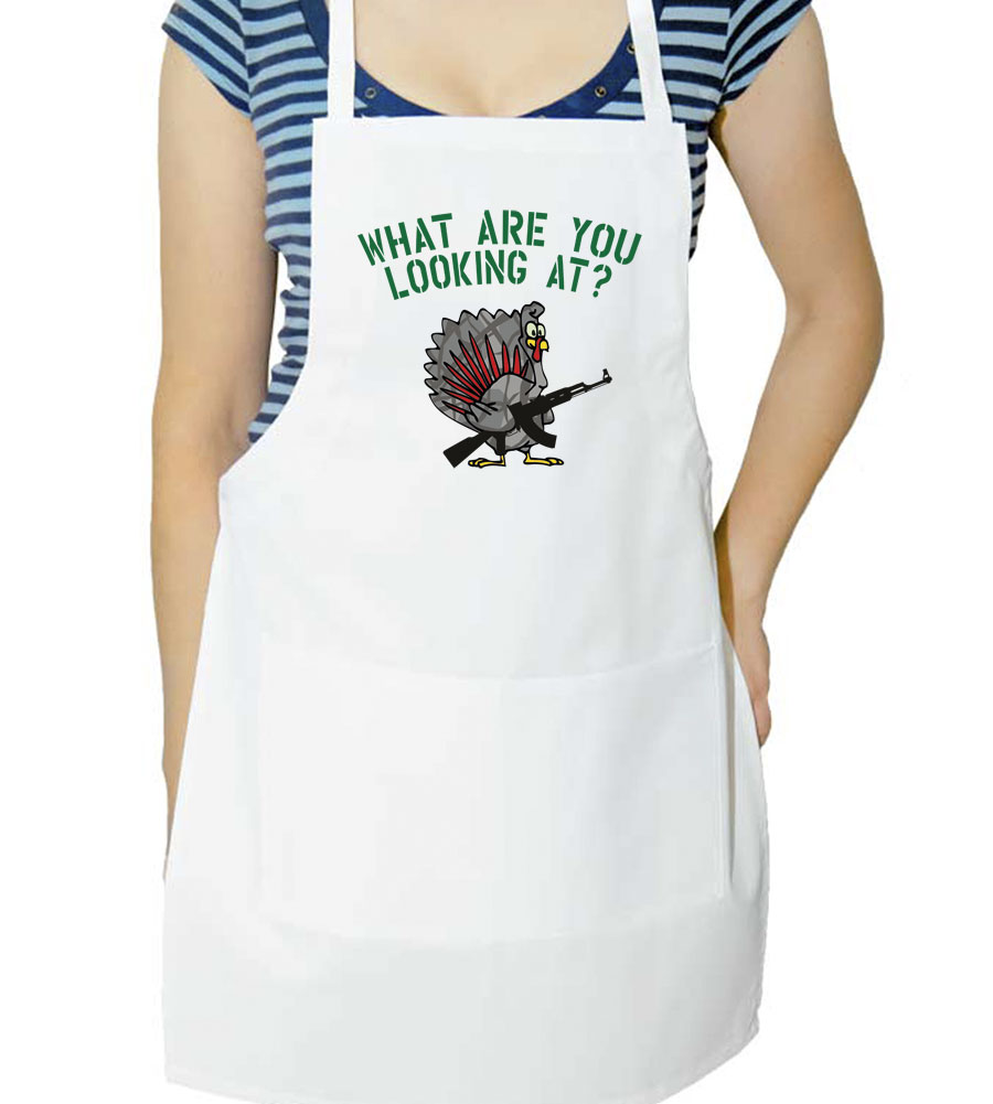 What Are You Looking At? Thanksgiving Apron