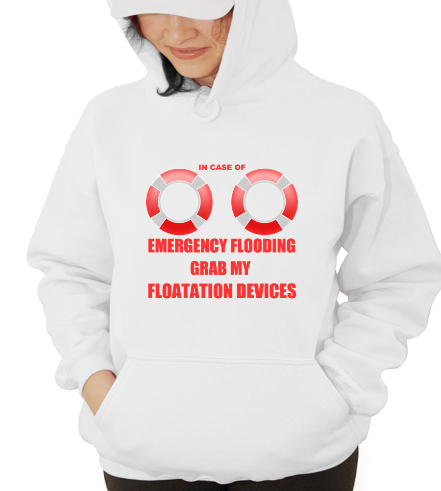 Emergency Flooding Floatation Devices Hooded Sweatshirt